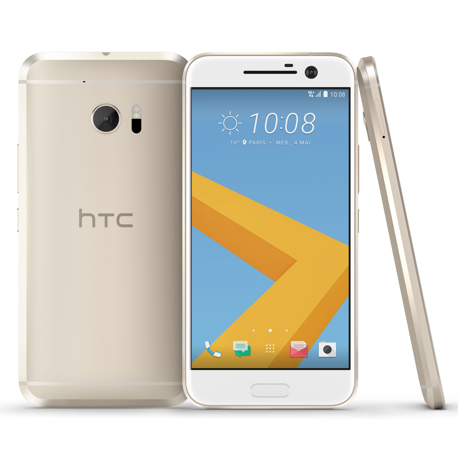 "Mobile & smartphone HTC 10 Or Topaze Smartphone 4G-LTE Advanced - Snapdragon 820 Quad-Core 2.2 Ghz - RAM 4 Go - Ecran tactile 5.2"" 1440 x 2560 - 32 Go - NFC/Bluetooth 4.2 - 3000 mAh - Android 6.0"