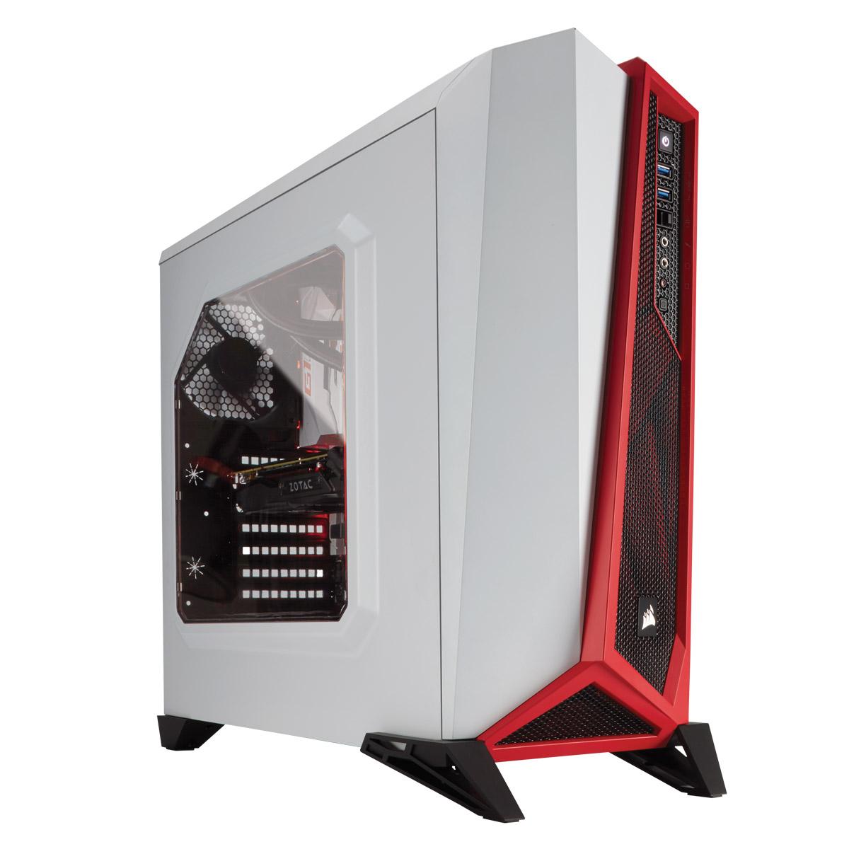 corsair carbide spec alpha windowed rouge blanc bo tier pc corsair sur. Black Bedroom Furniture Sets. Home Design Ideas