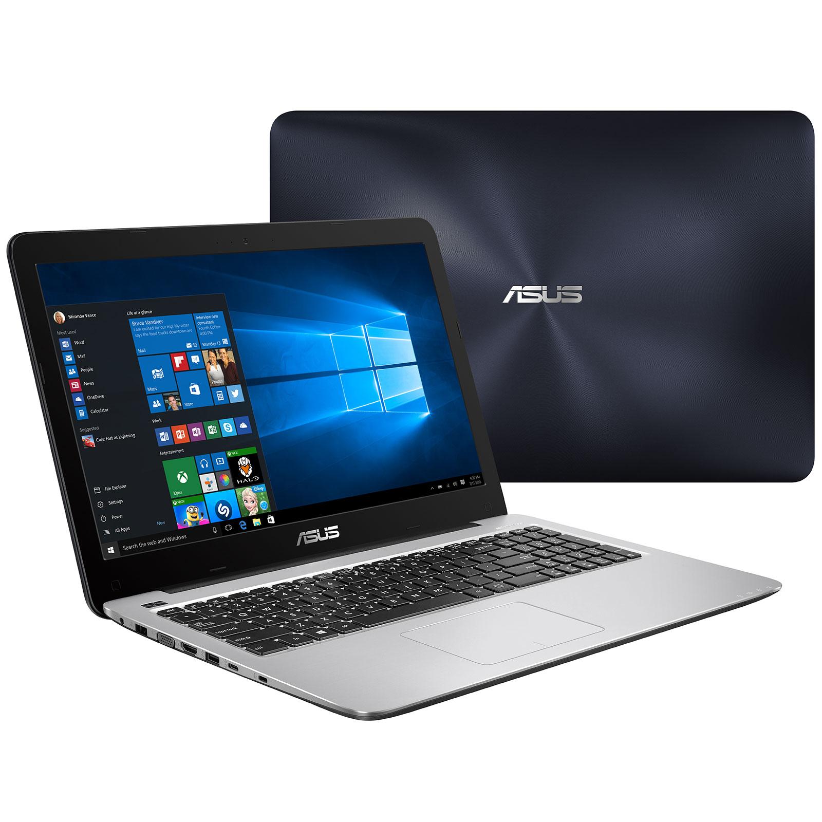 "PC portable ASUS R558UV-DM344T Intel Core i5-6200U 8 Go SSD 128 Go + HDD 500 Go 15.6"" LED Full HD NVIDIA GeForce 920MX Wi-Fi N/Bluetooth Webcam Windows 10 Famille 64 bits (garantie constructeur 2 ans)"