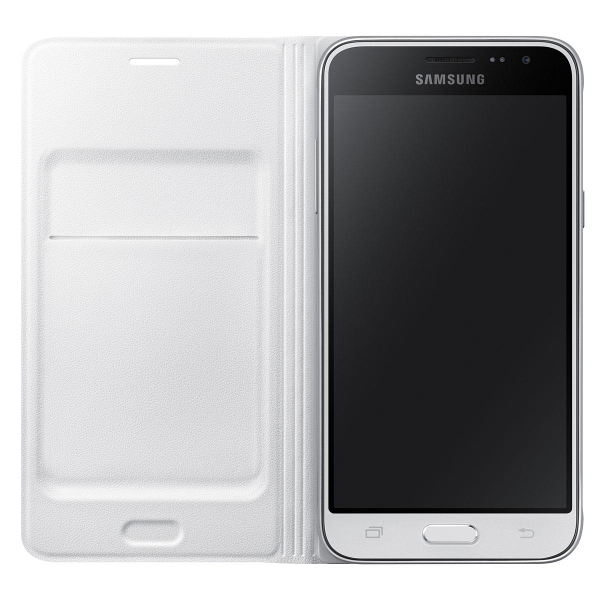 samsung flip wallet blanc samsung galaxy j3 2016 etui t l phone samsung sur. Black Bedroom Furniture Sets. Home Design Ideas