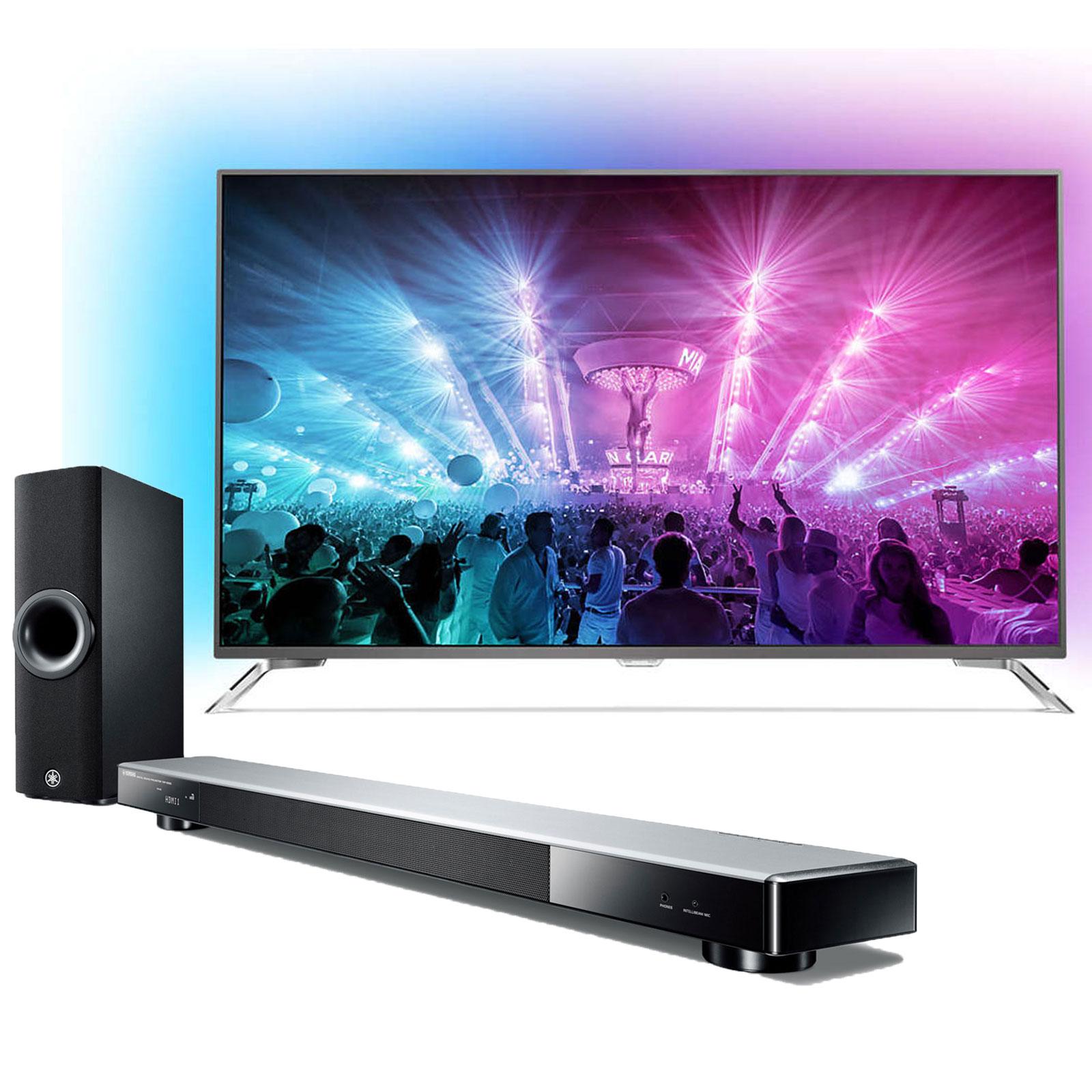 philips 65pus7101 yamaha ysp 2500 titane tv philips. Black Bedroom Furniture Sets. Home Design Ideas