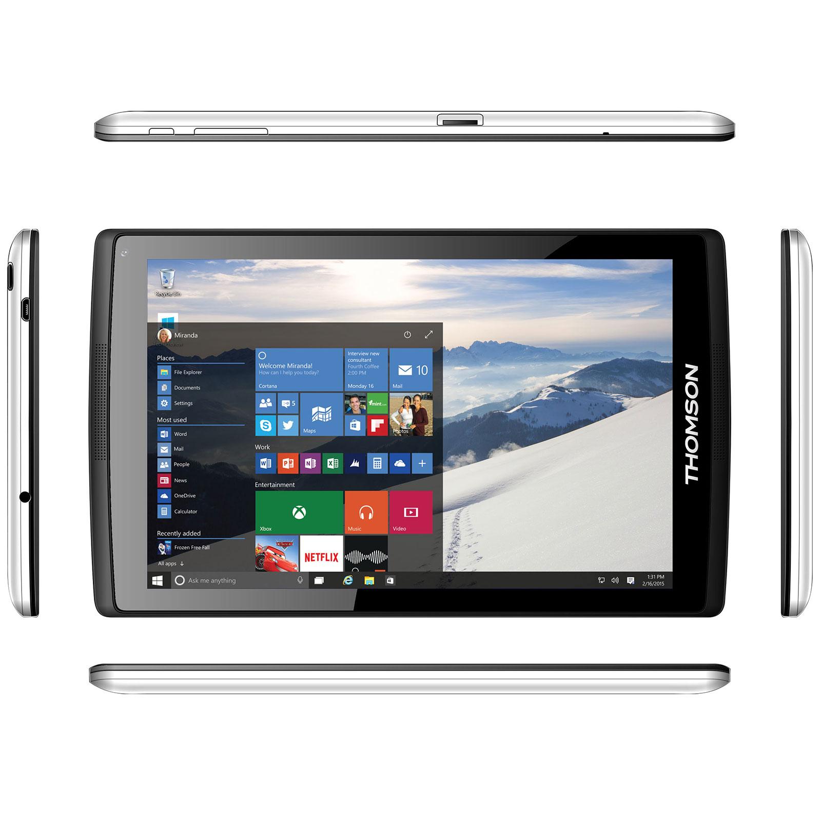 Thomson Prestige TH-INT8WIN16W10 Tablette Internet - Intel Atom Z3735G 1 Go  eMMC 16 Go 8
