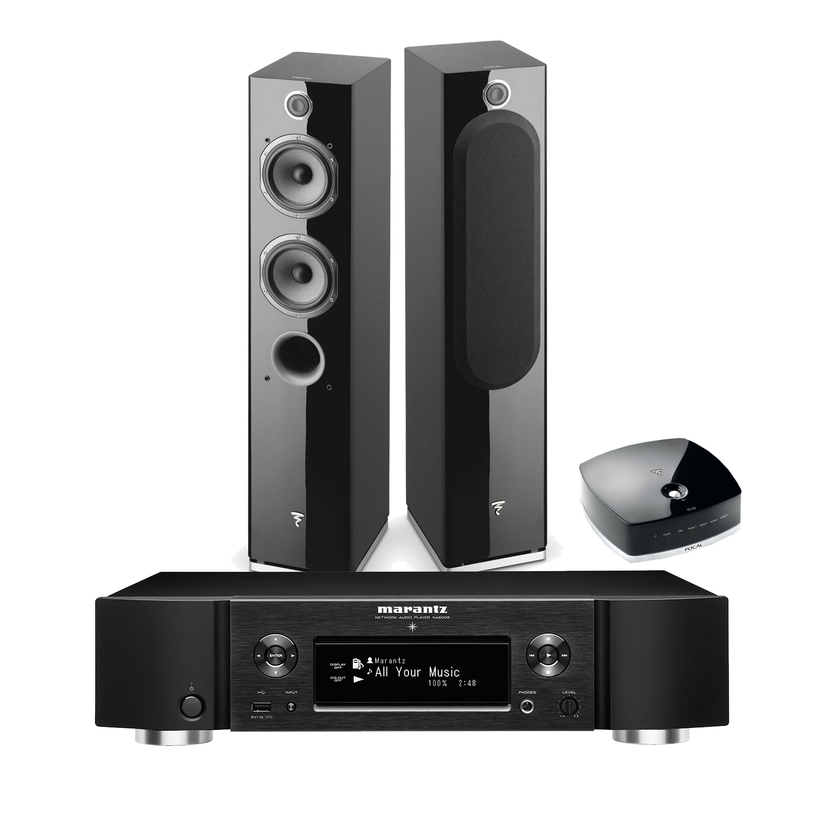 focal easya noir marantz na6005 noir ensemble hifi. Black Bedroom Furniture Sets. Home Design Ideas