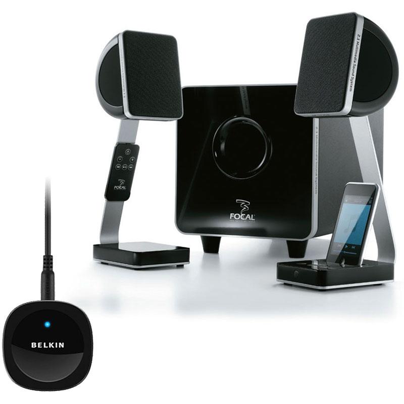 focal xs belkin bluetooth music receiver dock enceinte bluetooth focal sur. Black Bedroom Furniture Sets. Home Design Ideas
