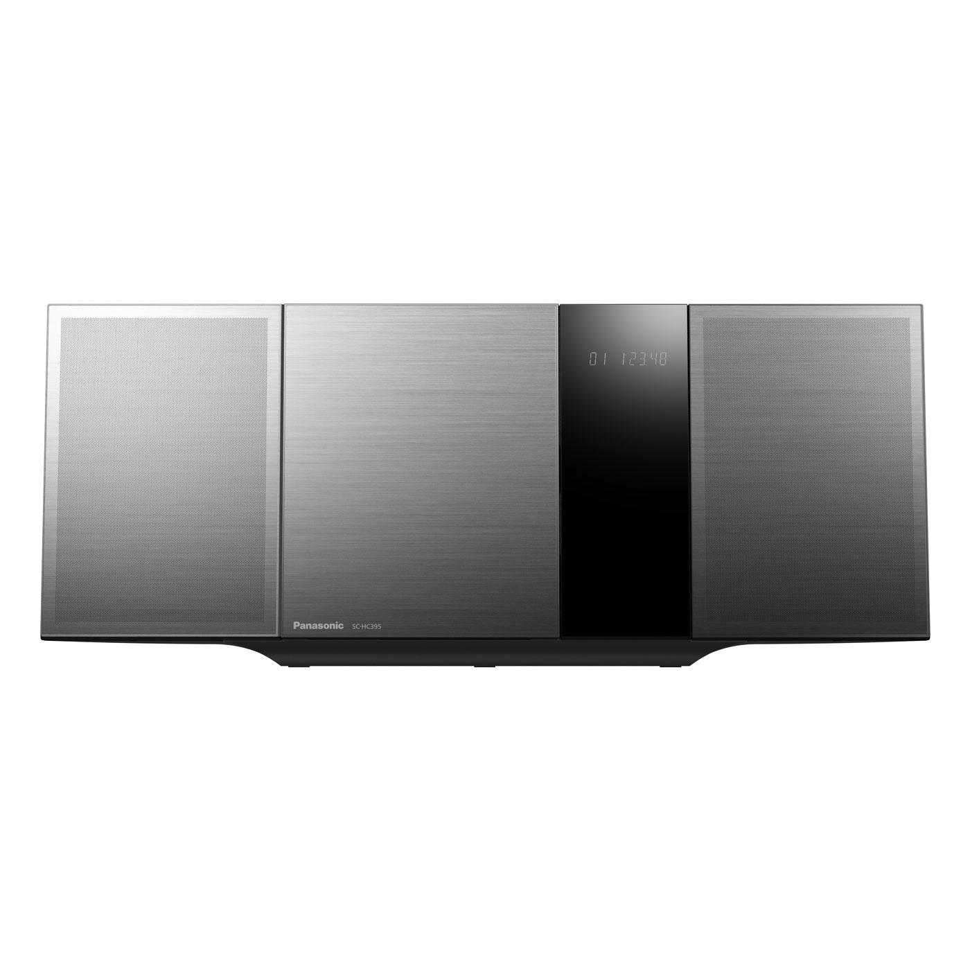Chaîne Hifi Panasonic SC-HC395EG-K Micro-chaîne CD/MP3 Bluetooth, NFC, FM, port USB et entrée auxiliaire