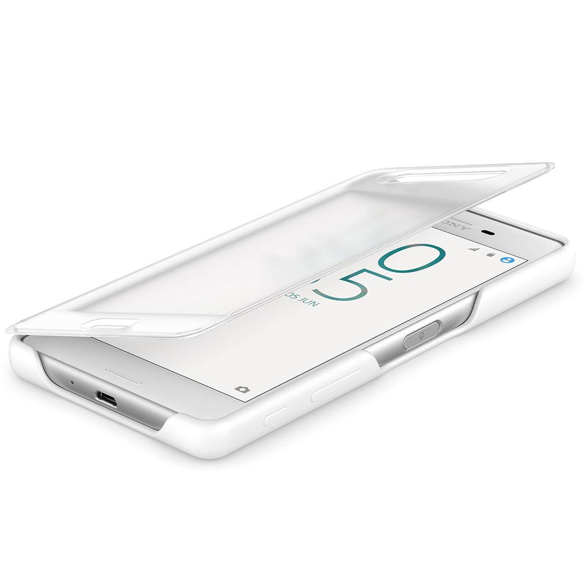 Coque Smartphone Sony Etui Flip Cover Blanc Pour Sony Xperia X GEqBnHIVZD