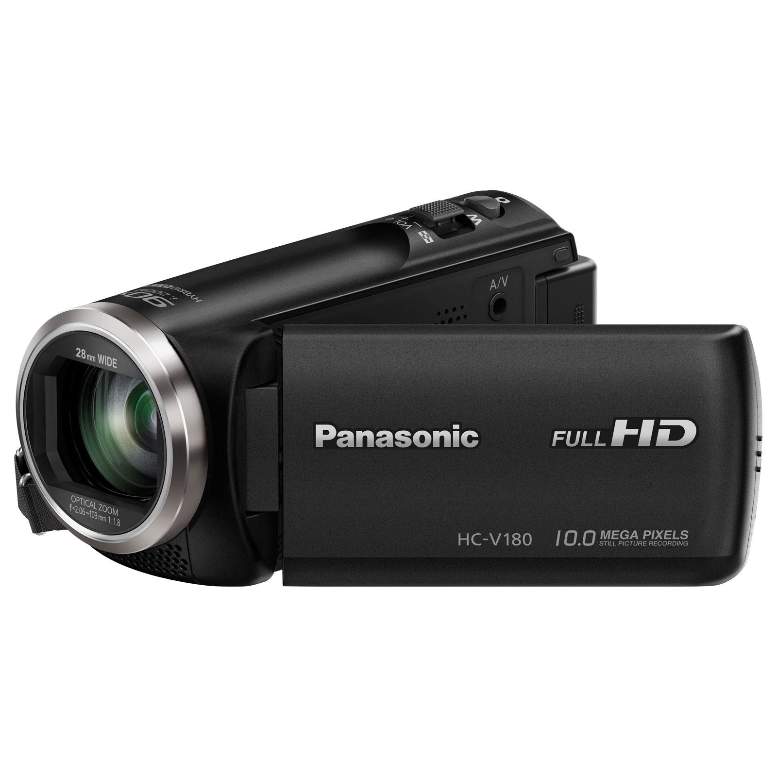 Caméscope numérique Panasonic HC-V180EF-K Caméscope Full HD grand-angle 28mm avec zoom optique 50x
