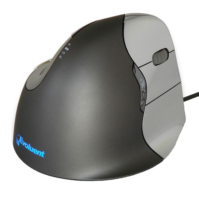 Evoluent verticalmouse 4 pour droitier souris pc for Souris ergonomique verticale darty