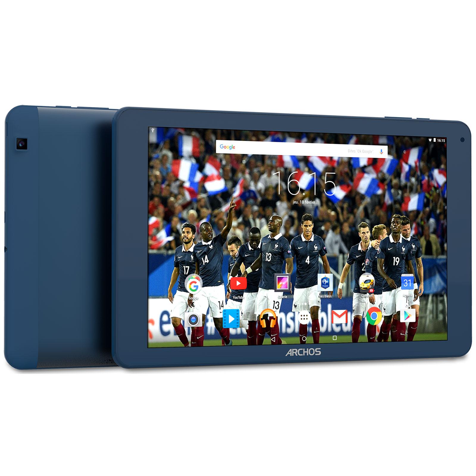 """Tablette tactile Archos 101d Platinum FFF 16 Go Tablette Internet édition Equipe de France de Football  - Mediatek MT8163 Quad-Core  - RAM 1 Go - 16 Go - 10.1"""" tactile - Wi-Fi N/Bluetooth - Android 5.1"""