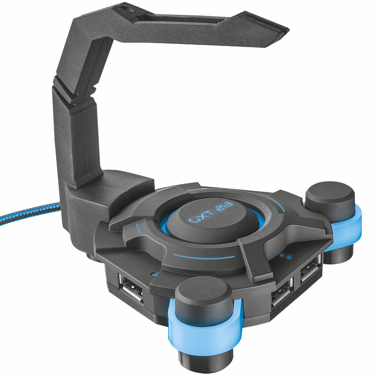 Autres accessoires jeu Trust Gaming GXT 213 Organisateur de câble pour  gamer avec hub 4 ports