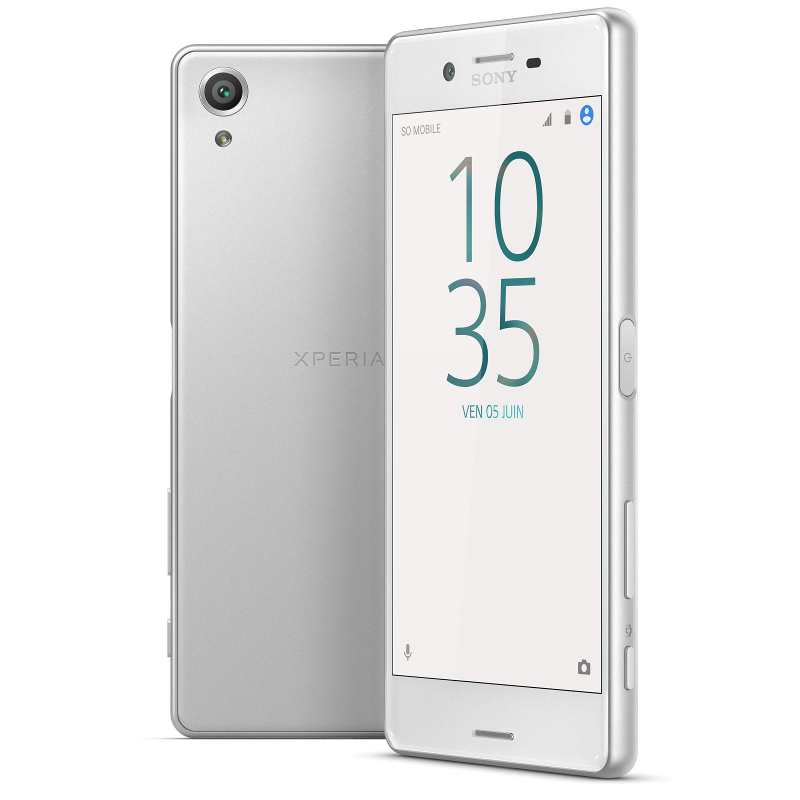Sony xperia x dual sim 64 go blanc mobile smartphone for Ecran photo sony