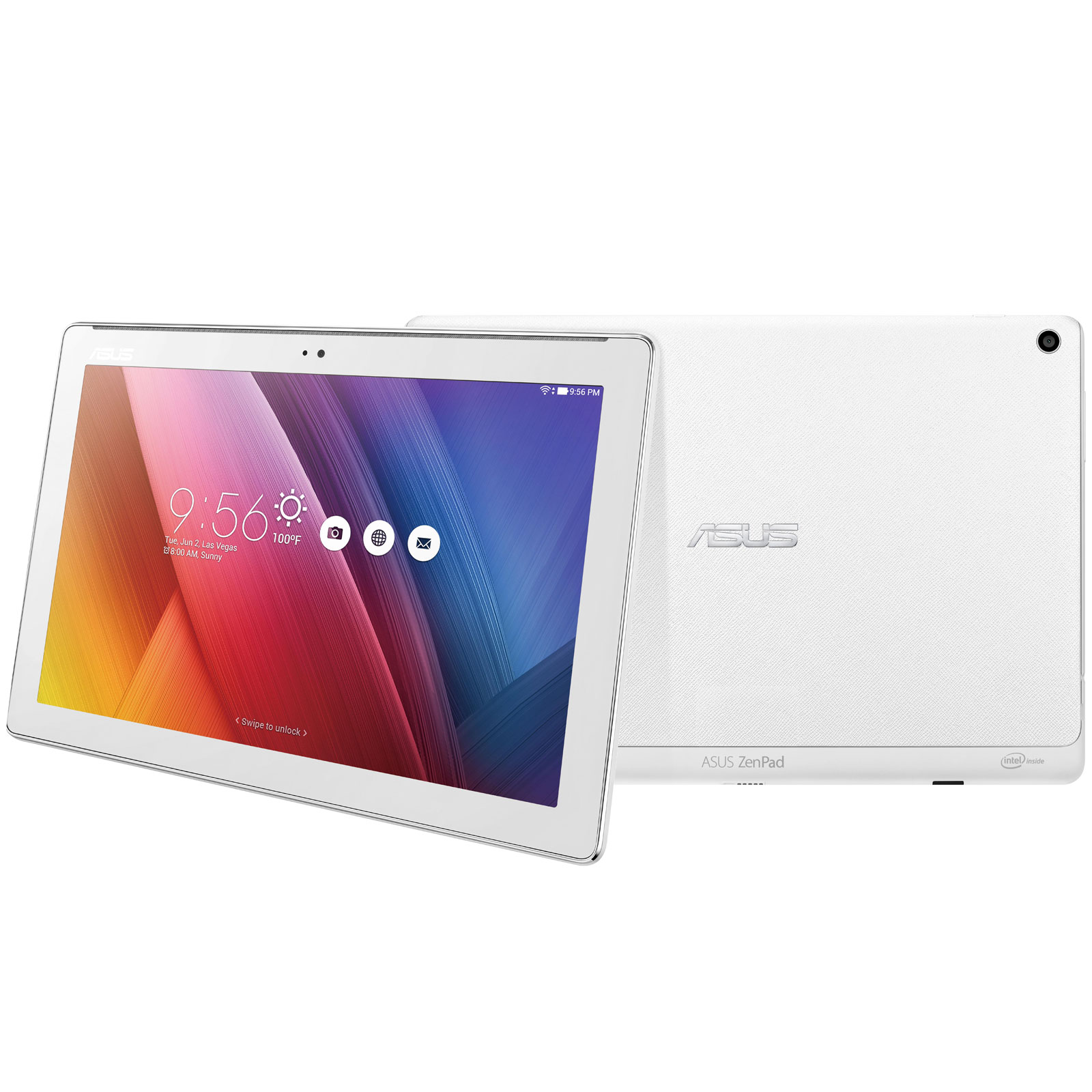 asus zenpad 10 z300cx 1b007a blanc tablette tactile asus sur. Black Bedroom Furniture Sets. Home Design Ideas