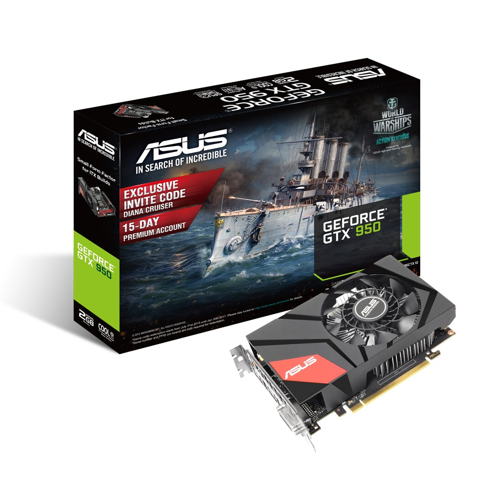 asus geforce gtx 950 mini gtx950 2g carte graphique asus sur. Black Bedroom Furniture Sets. Home Design Ideas