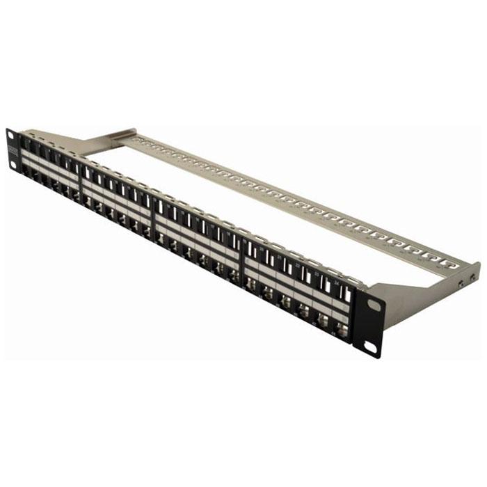 Connectique RJ45 Digitus DN-91424 Panneau de brassage 48 ports catégorie 6A pour coffret / armoire / baie 19'' Noir