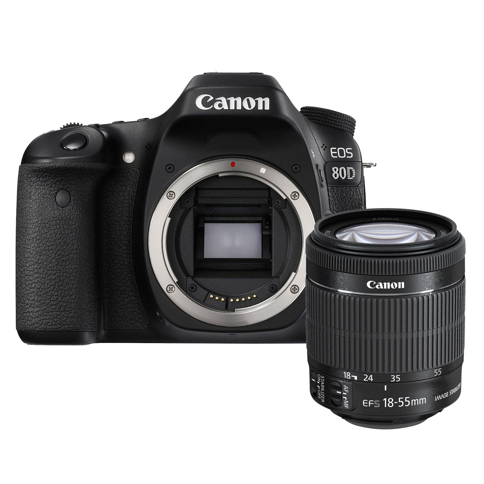 canon eos 80d ef s 18 55mm f 3 5 5 6 is stm appareil photo reflex canon sur. Black Bedroom Furniture Sets. Home Design Ideas