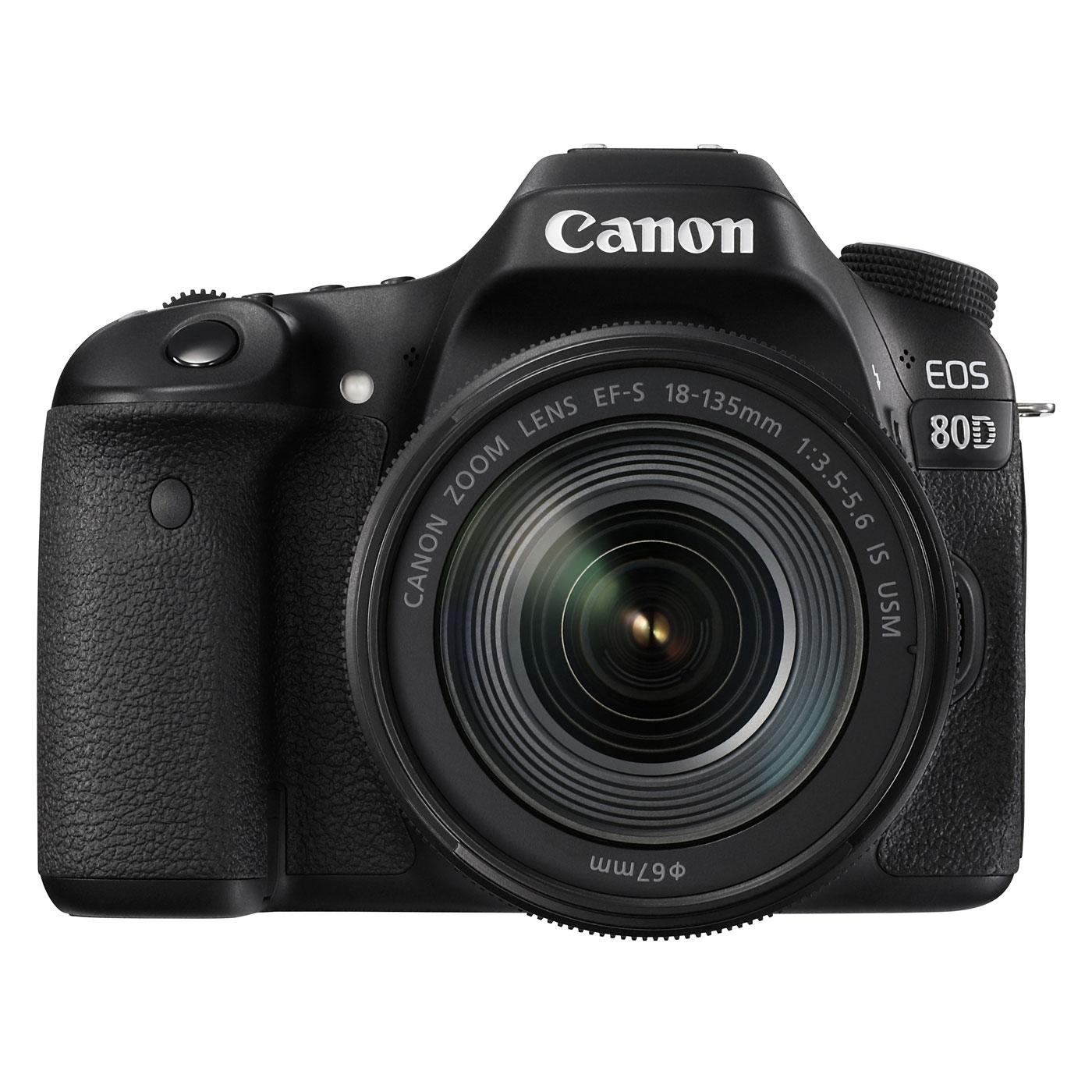 canon eos 80d ef s 18 135mm f 3 5 5 6 is usm appareil photo reflex canon sur. Black Bedroom Furniture Sets. Home Design Ideas
