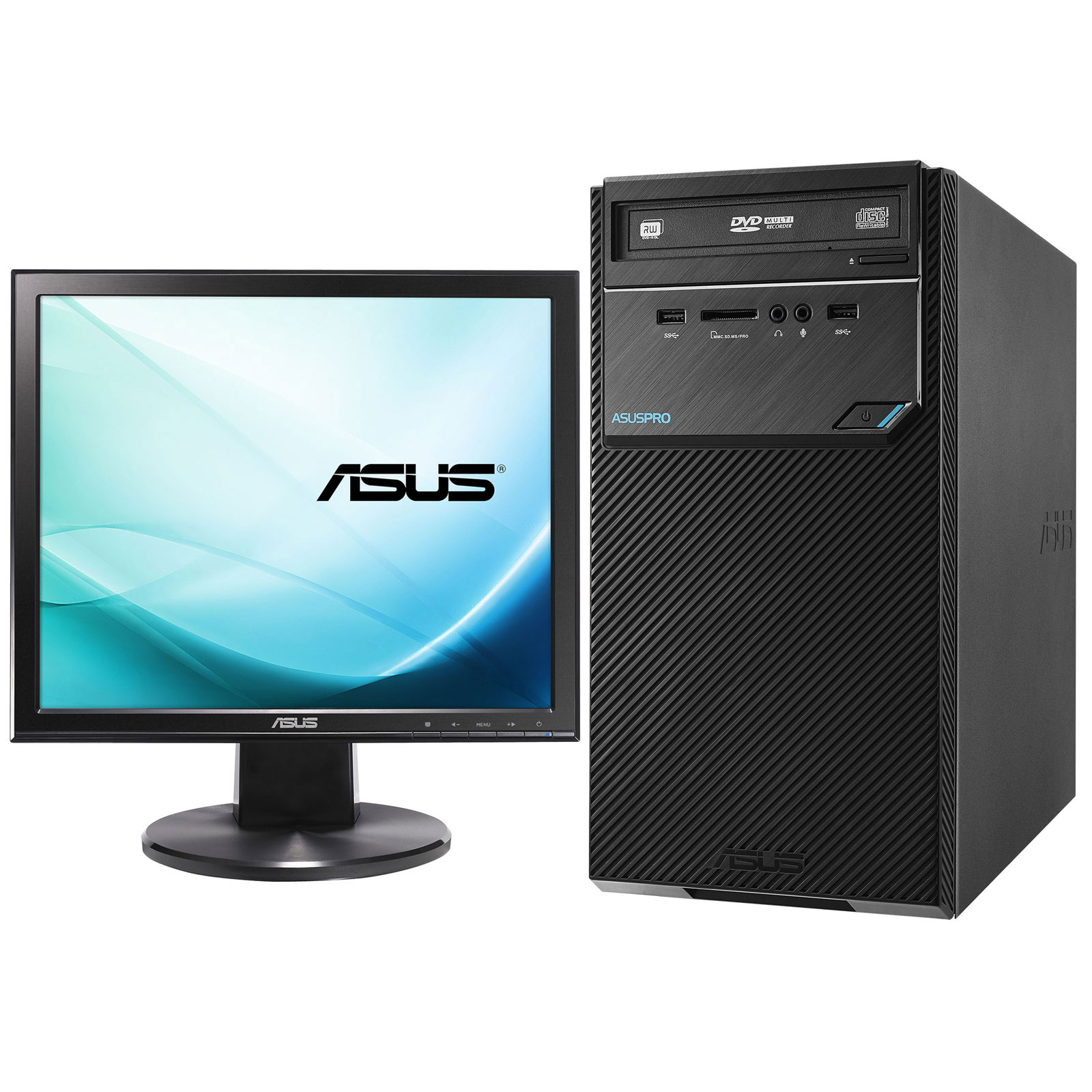 asus d320mt i361000284 cran asus vb199t pc de bureau asus sur. Black Bedroom Furniture Sets. Home Design Ideas