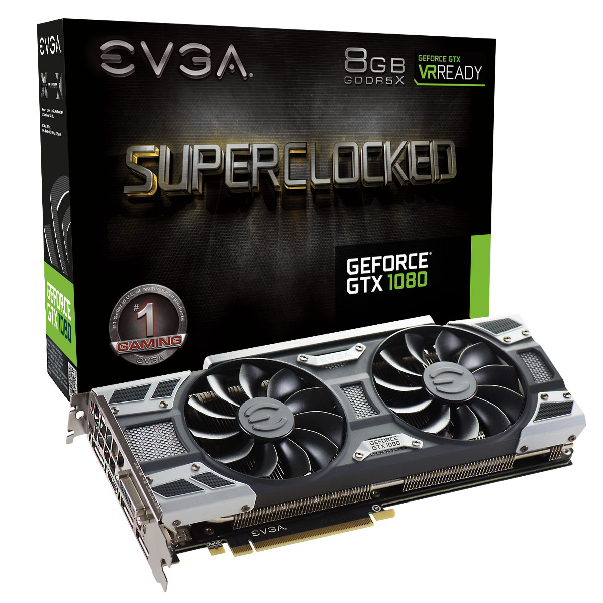 Carte graphique EVGA GeForce GTX 1080 SuperClocked Gaming ACX 3.0 8192 Mo DVI/HDMI/Tri DisplayPort - PCI Express (NVIDIA GeForce avec CUDA GTX 1080)