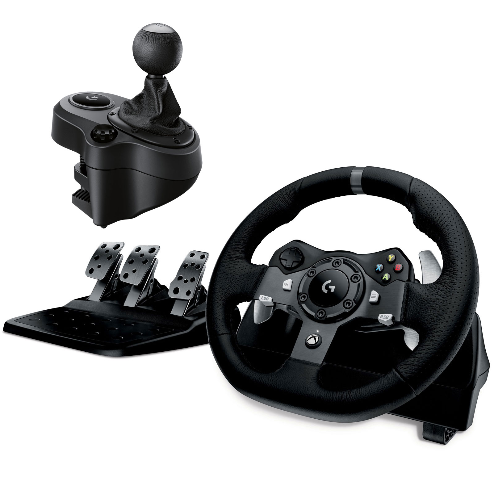 logitech g920 driving force racing wheel volant pc logitech sur. Black Bedroom Furniture Sets. Home Design Ideas