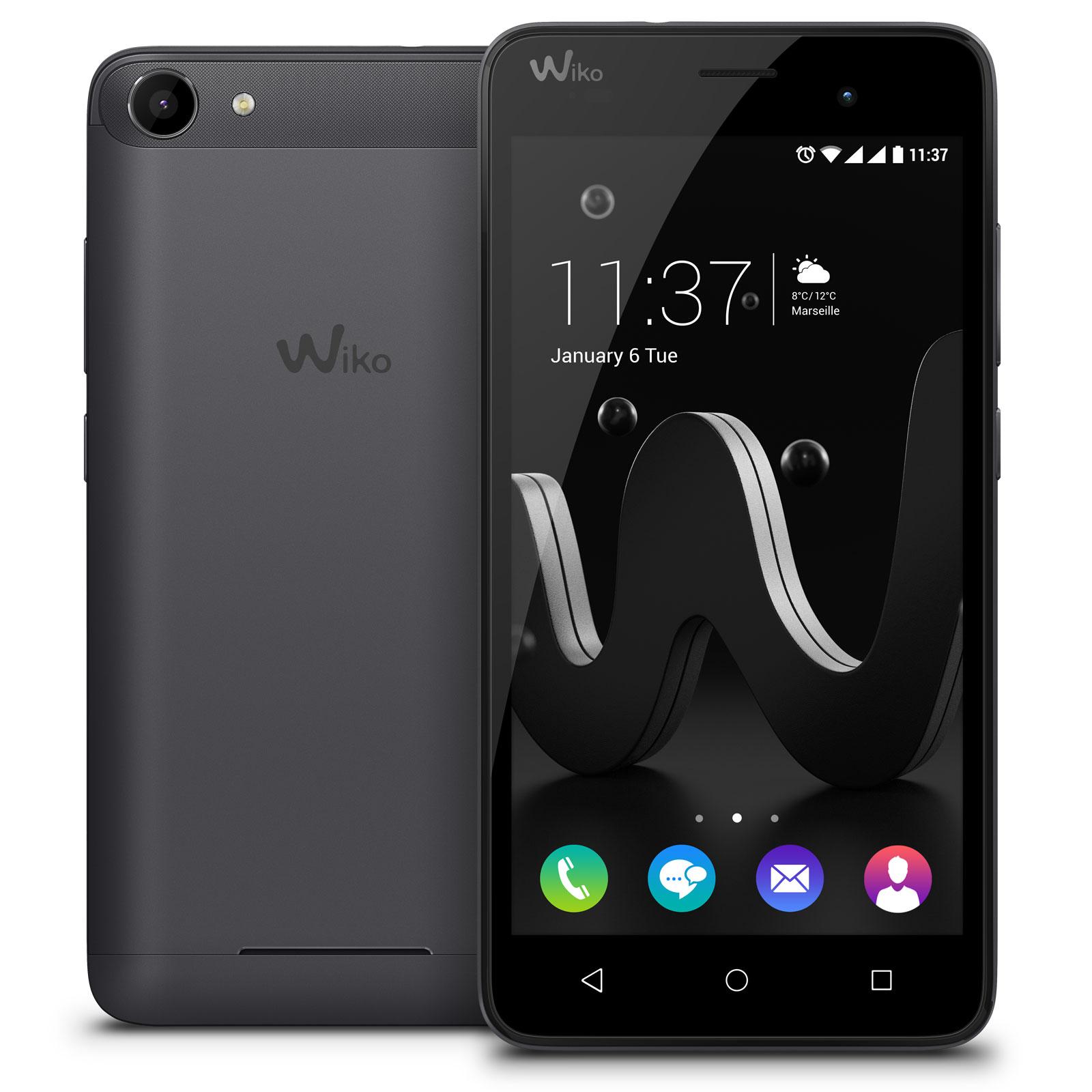 wiko jerry noir mobile smartphone wiko sur. Black Bedroom Furniture Sets. Home Design Ideas