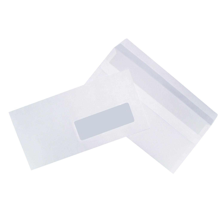 500 enveloppes dl autocollantes 80g fen tre 35x100 enveloppe g n rique sur for Format fenetre