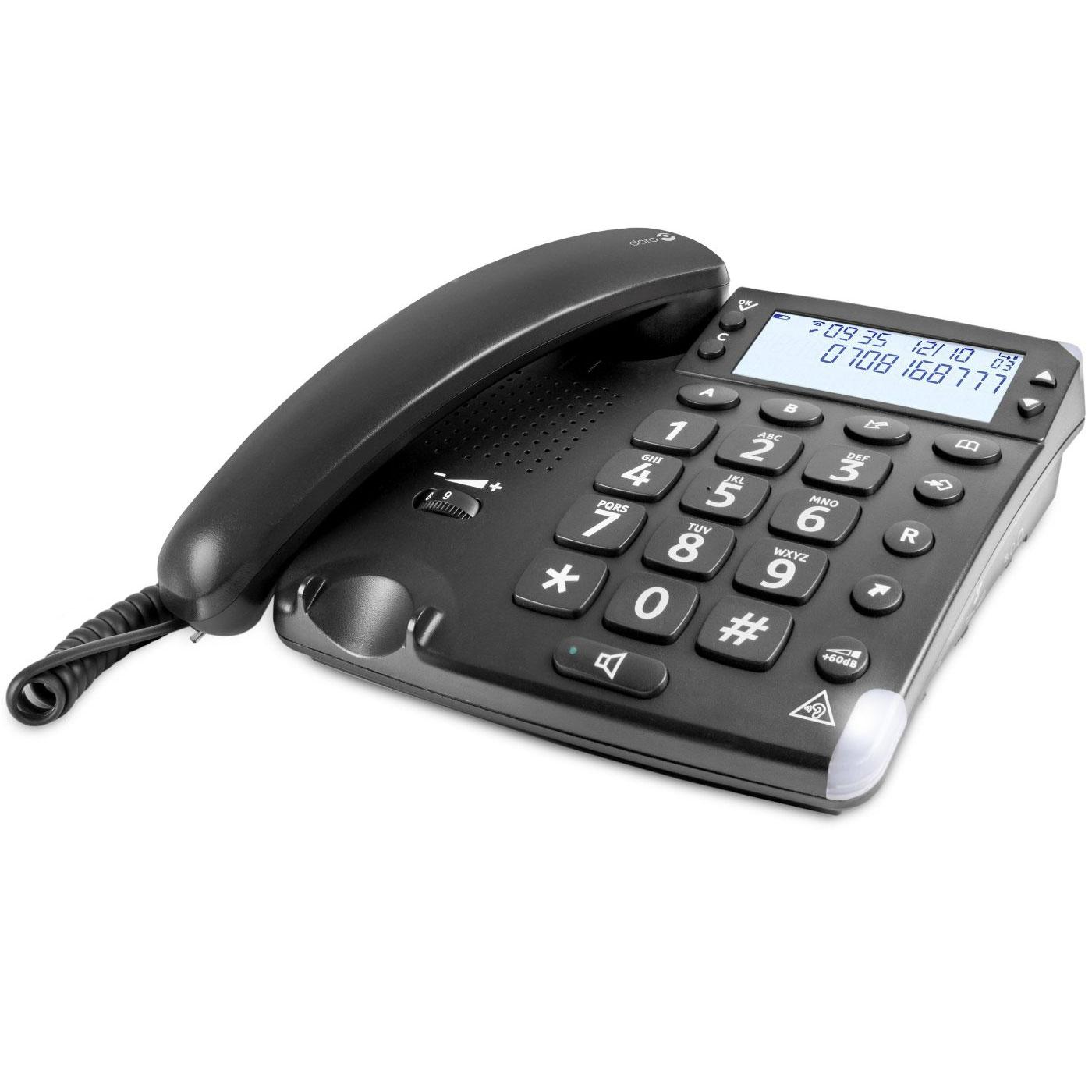 Téléphone filaire Doro Magna 4000 Téléphone filaire à grosses touches avec identification d'appel