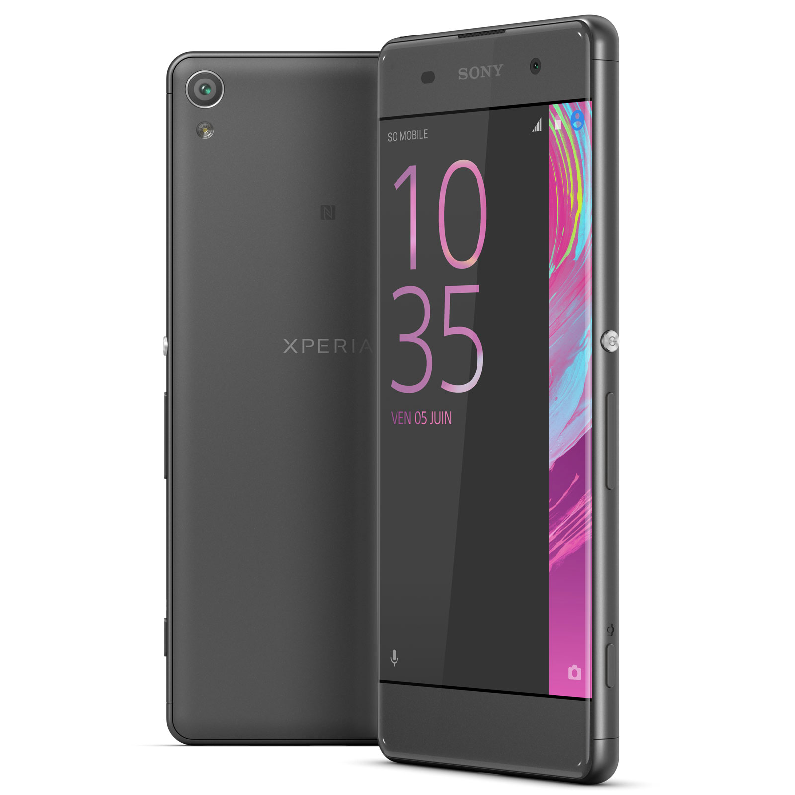 sony xperia xa dual sim 16 go noir mobile smartphone. Black Bedroom Furniture Sets. Home Design Ideas