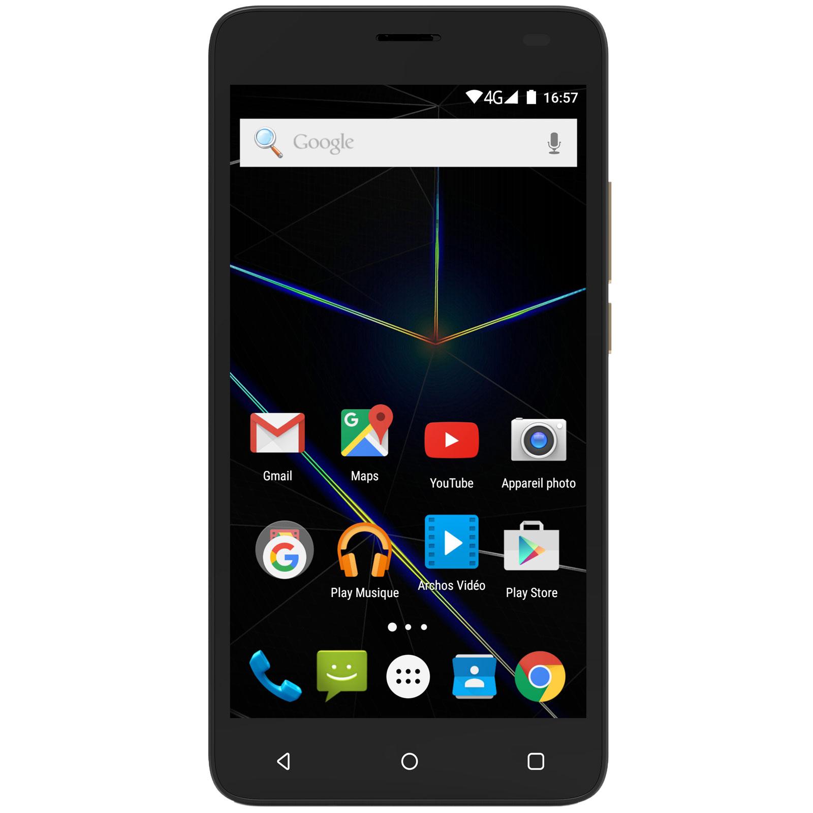 """Mobile & smartphone Archos 50d Oxygen Noir Smartphone 4G-LTE Dual SIM - Mediatek MTK6753 8-Core 1.3 GHz - RAM 2 Go - Ecran tactile 5"""" 1080 x 1920 - 16 Go - Bluetooth 4.0 - 2100 mAh - Android 5.1"""