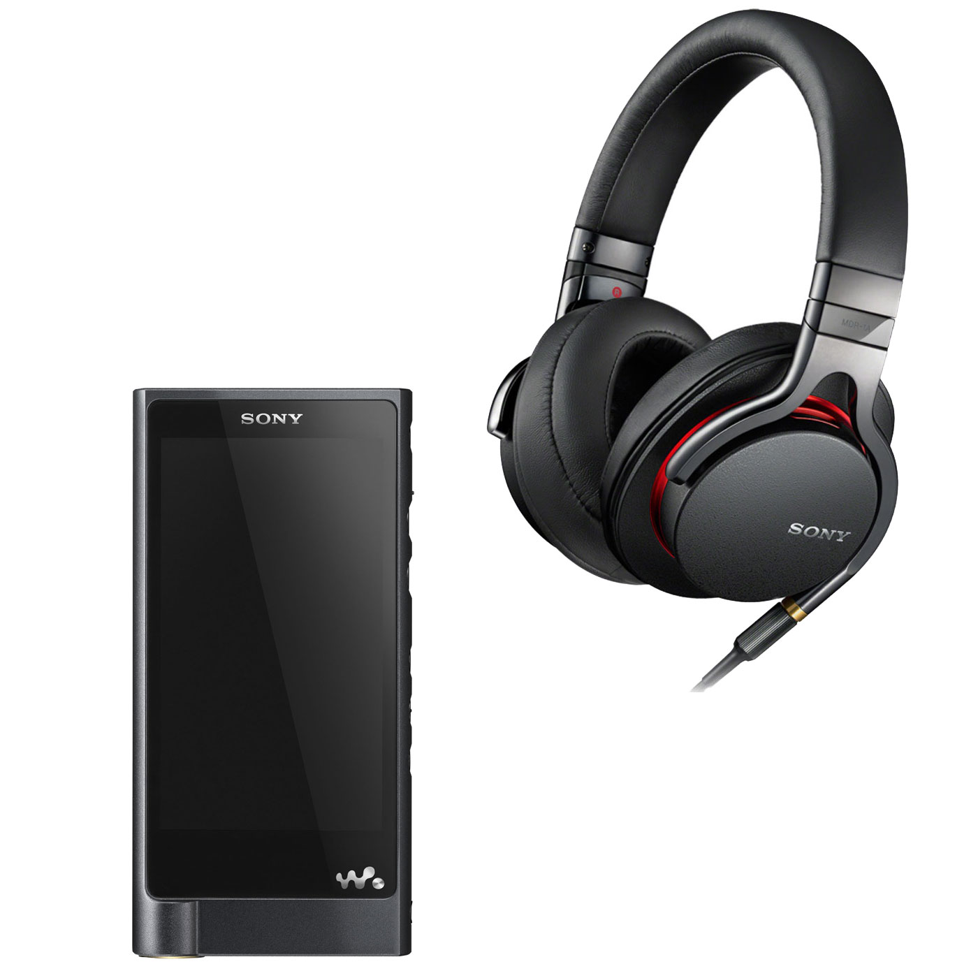 sony nw zx2 mdr 1a noir lecteur mp3 ipod sony sur. Black Bedroom Furniture Sets. Home Design Ideas