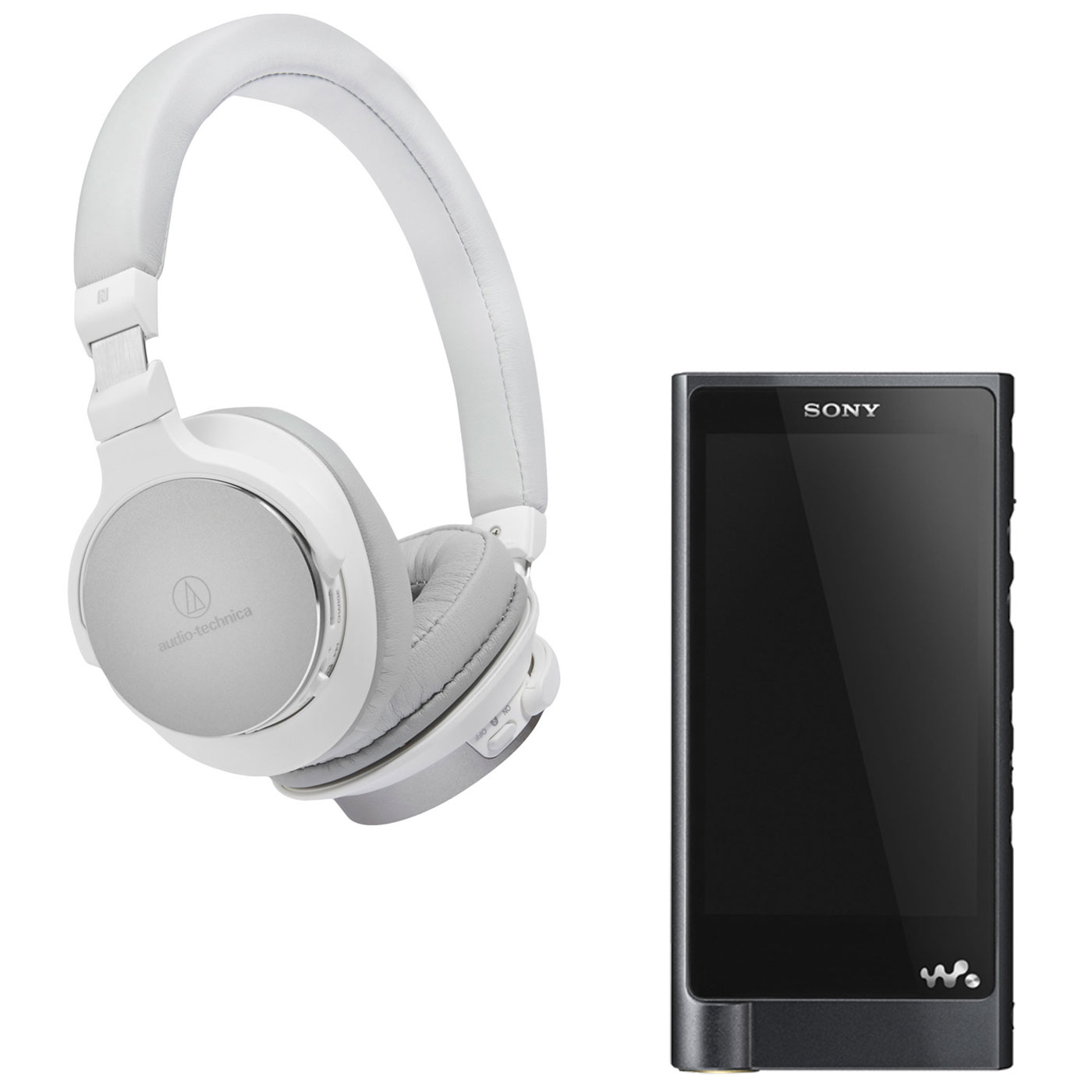 sony nw zx2 audio technica ath sr5bt blanc lecteur mp3. Black Bedroom Furniture Sets. Home Design Ideas