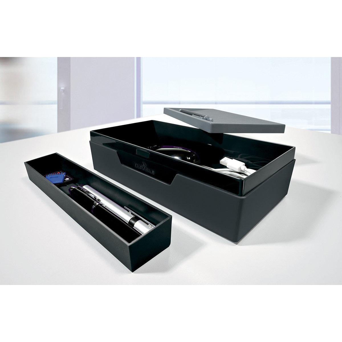 durable boite de rangement varicolor noir bo te de rangement durable sur. Black Bedroom Furniture Sets. Home Design Ideas