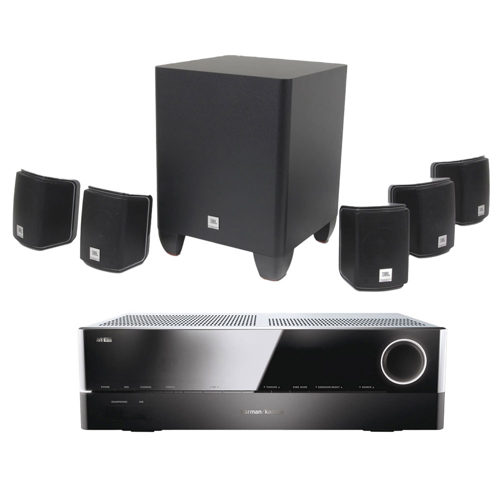 harman kardon avr 161s jbl cinema 510 ensemble home. Black Bedroom Furniture Sets. Home Design Ideas