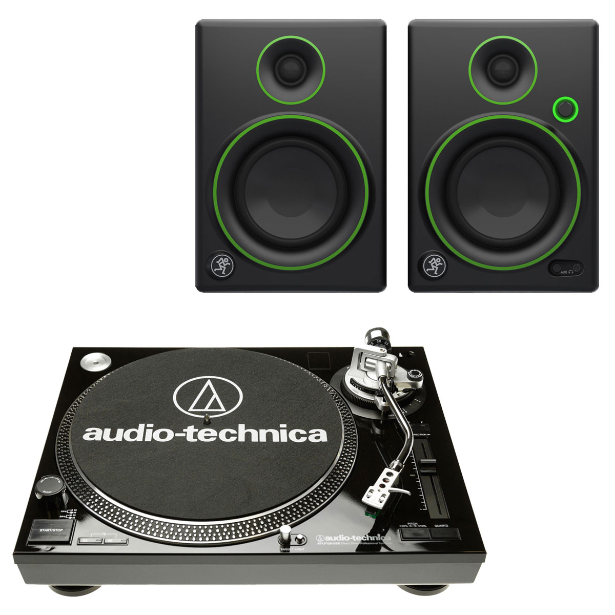 audio technica at lp120usbc noir mackie cr4 platine. Black Bedroom Furniture Sets. Home Design Ideas