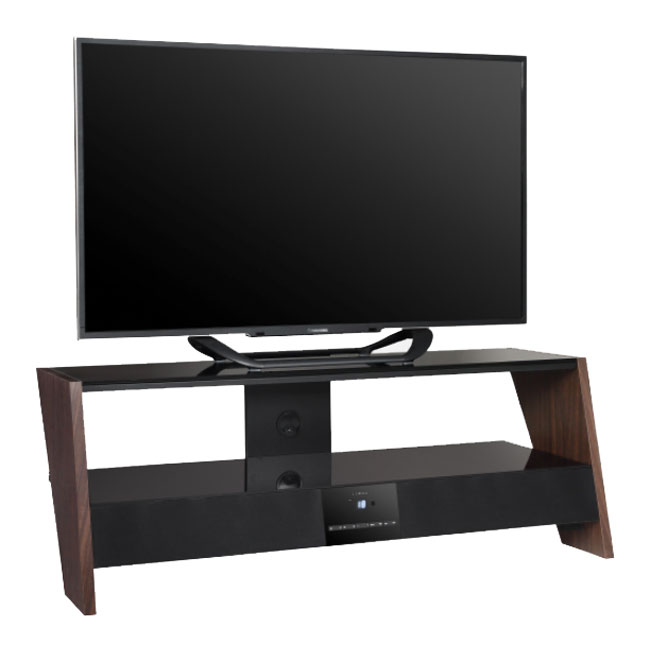 Prestige moonlight wood meuble tv prestige sur ldlc for Meuble tv hifi integre