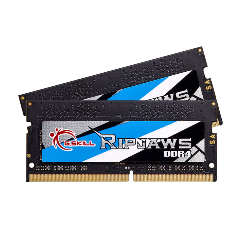 Mémoire PC portable G.Skill RipJaws Series SO-DIMM 16 Go (2 x 8Go) DDR4 3000 MHz CL16 Kit Dual Channel 2 barrettes de RAM SO-DIMM PC4-24000 - F4-3000C16D-16GRS (garantie à vie par G.Skill)