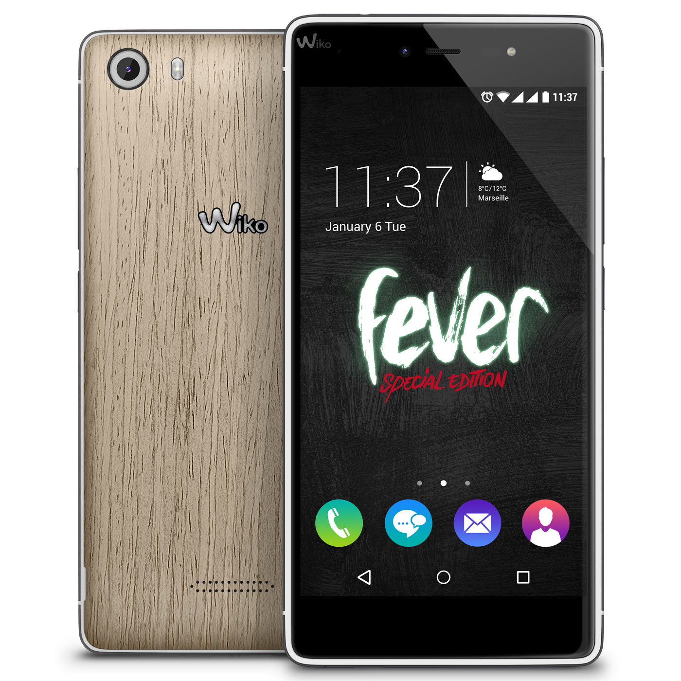Wiko fever se scary pack bois cendr mobile smartphone wiko sur for Photo ecran wiko fever