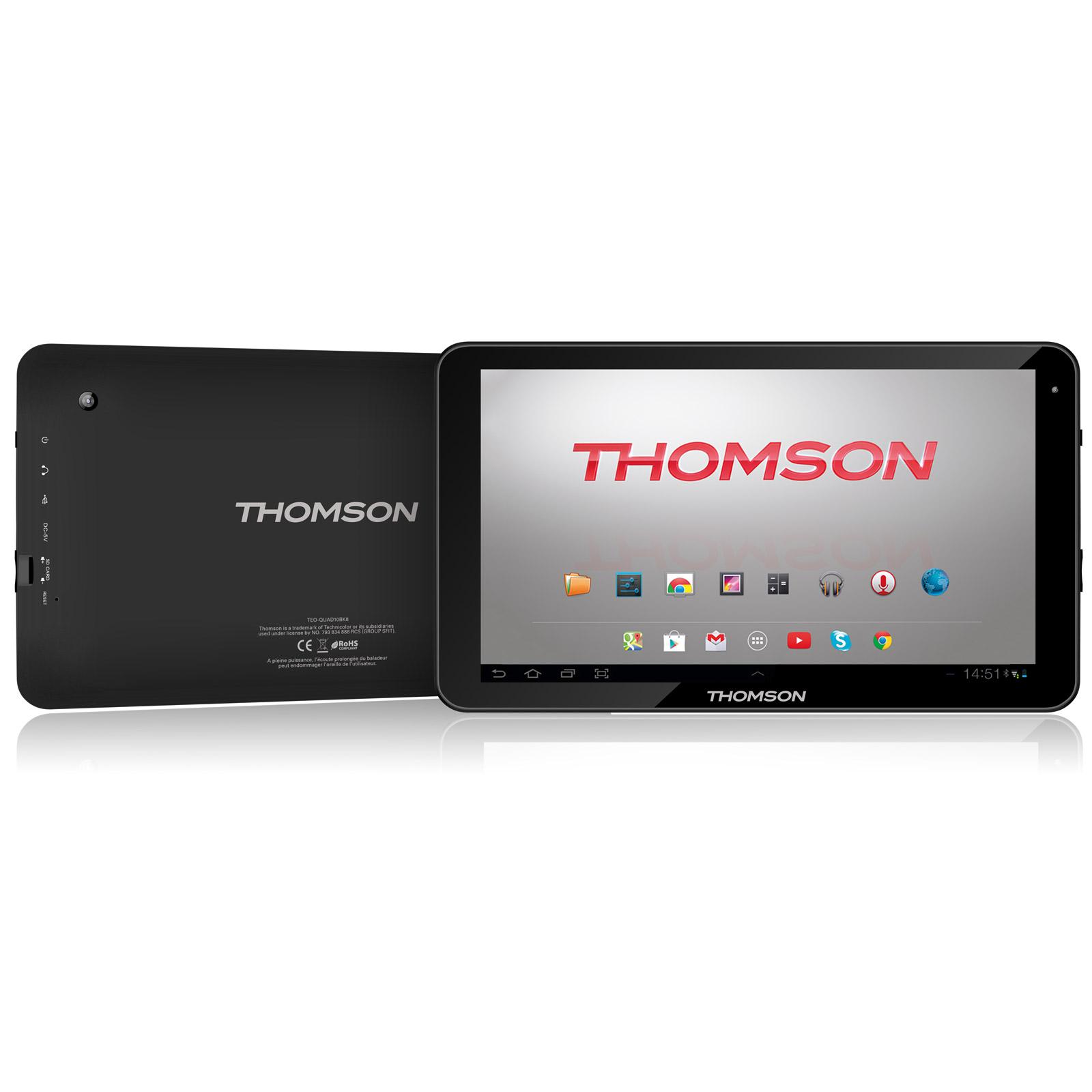thomson teo quad10bk16 tablette tactile thomson sur. Black Bedroom Furniture Sets. Home Design Ideas