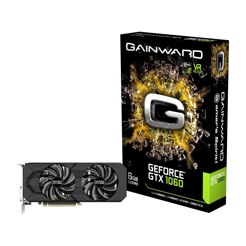 Carte graphique Gainward GeForce GTX 1060 6GB 6144 Mo DVI/HDMI/Tri DisplayPort - PCI Express (NVIDIA GeForce avec CUDA GTX 1060)