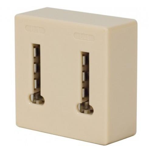 adaptateur t l phonique 1 prise t m le 2 prises c ble rj11 rj9 rj12 g n rique sur. Black Bedroom Furniture Sets. Home Design Ideas