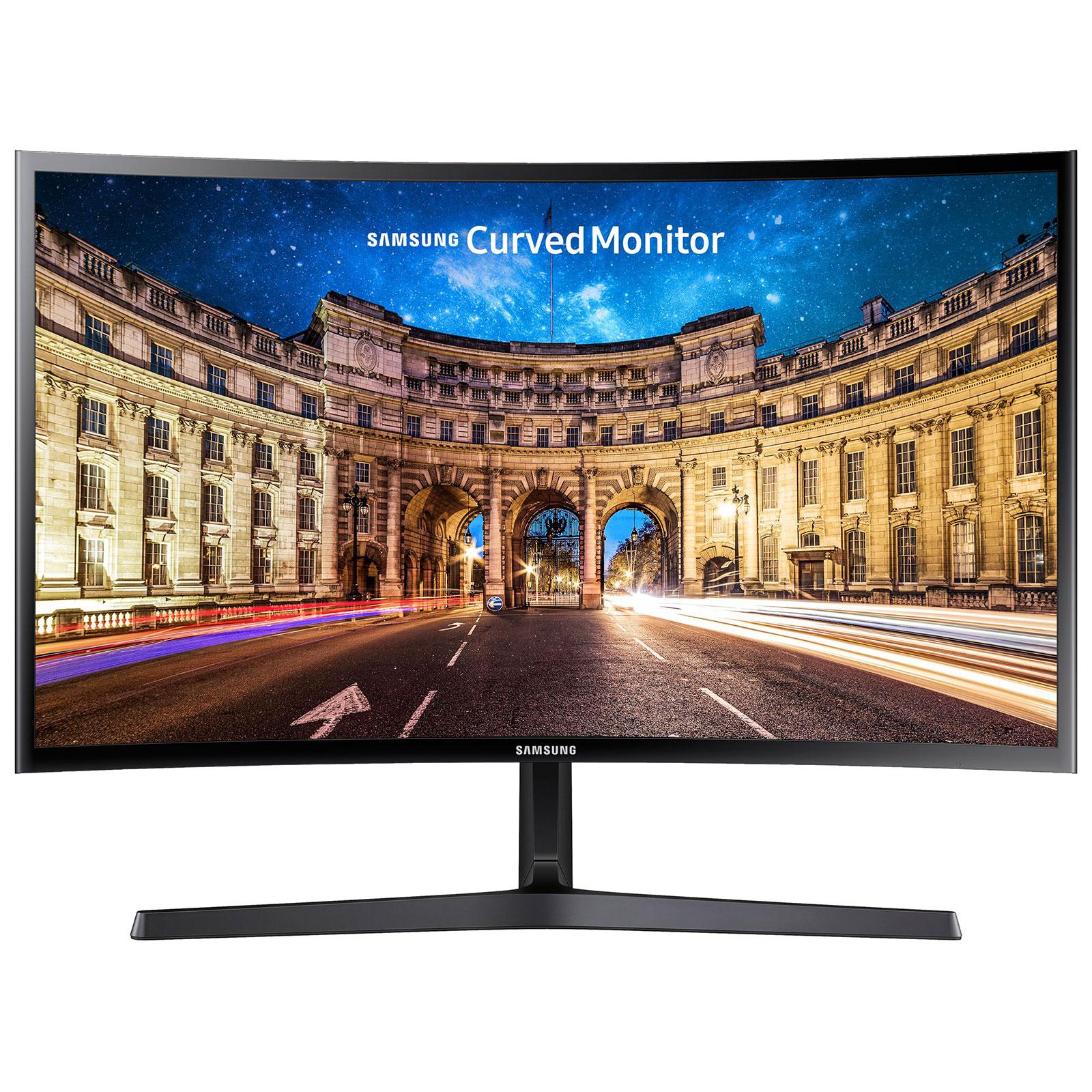 """Ecran PC Samsung 24"""" LED - C24F396FHU 1920 x 1080 pixels - 4 ms - Format large 16/9 - Dalle VA incurvée - HDMI - Noir"""