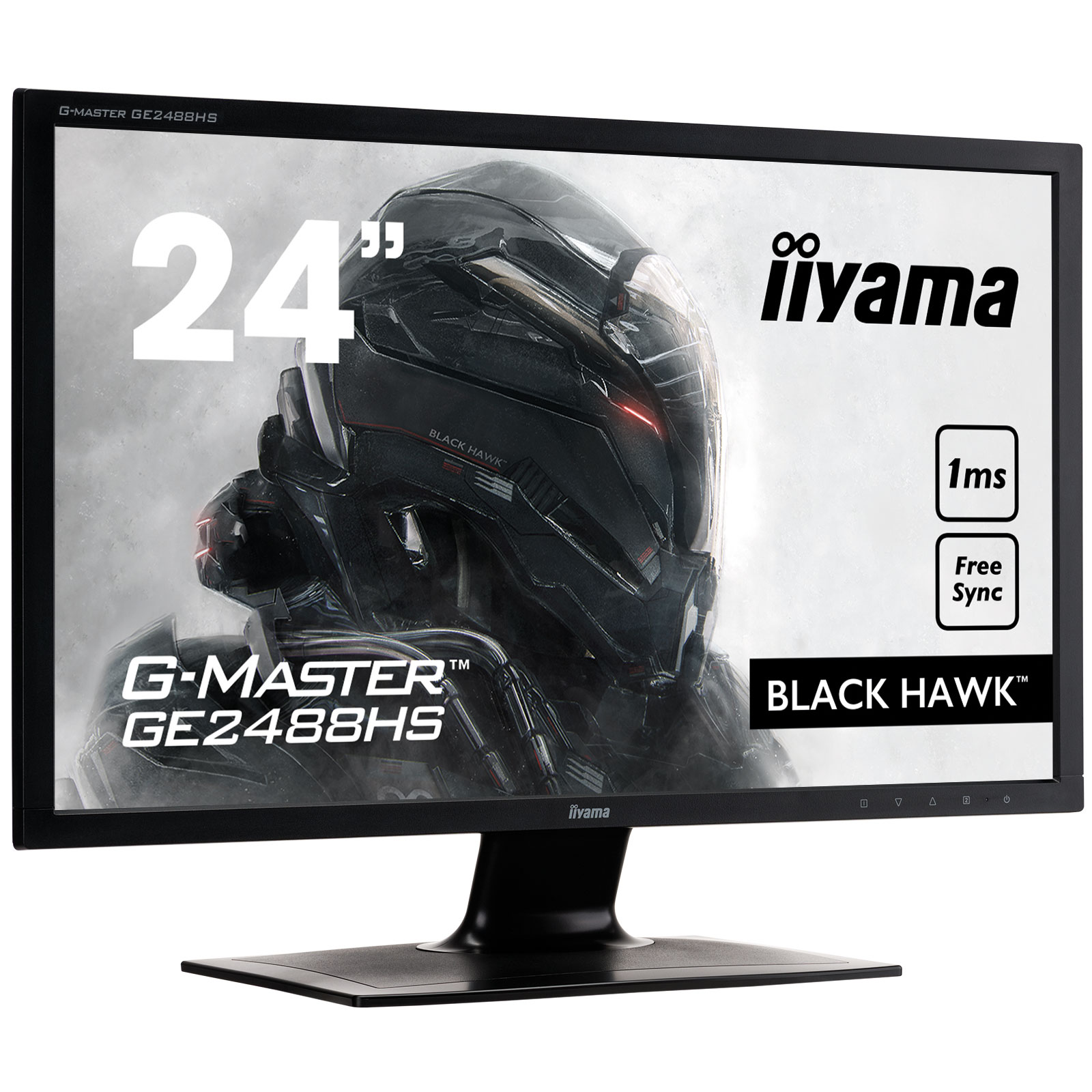 "Ecran PC iiyama 24"" LED - G-MASTER GE2488HS-B2 Black Hawk  1920 x 1080 pixels - 1 ms - Format large 16/9 - FreeSync - HDMI - Noir"