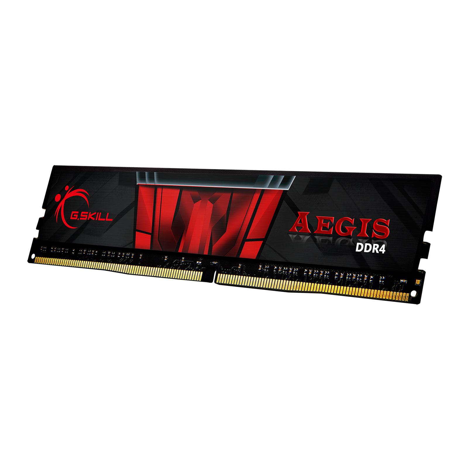 Mémoire PC G.Skill Aegis 16 Go (1 x 16 Go) DDR4 3000 MHz CL16 RAM DDR4 PC4-24000 - F4-3000C16S-16GISB