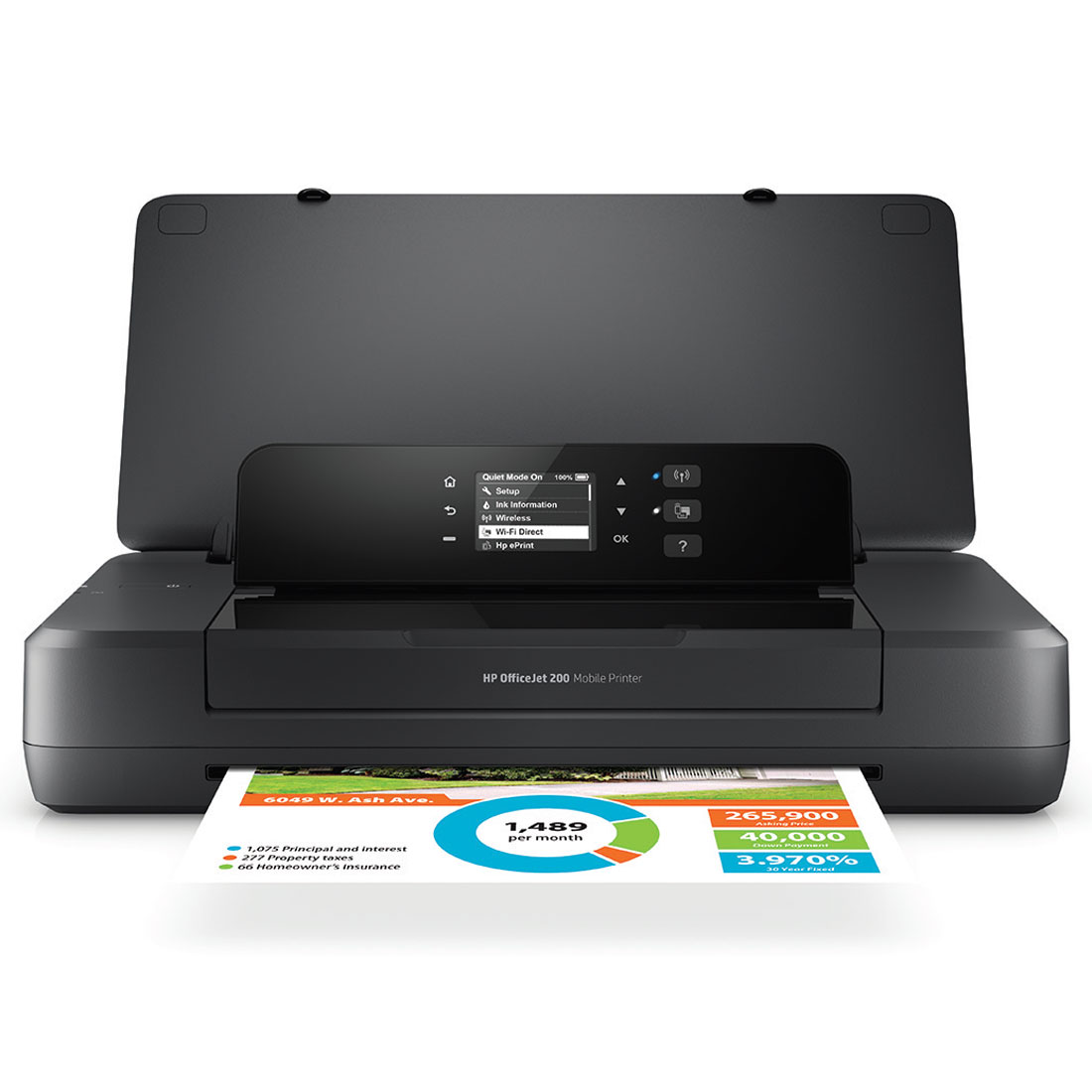 Imprimante jet d'encre HP Officejet 200 Mobile Imprimante jet d'encre portable (USB 2.0 / Wi-Fi / AirPrint / ePrint)