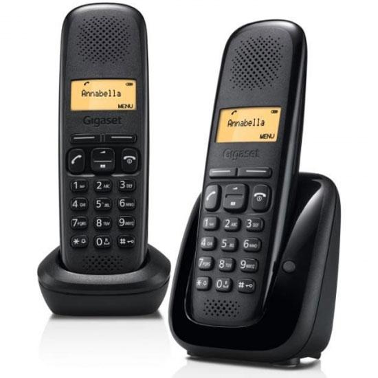 Téléphone sans fil Gigaset A150 Duo Noir Téléphone DECT sans fil avec combiné supplémentaire (version française)