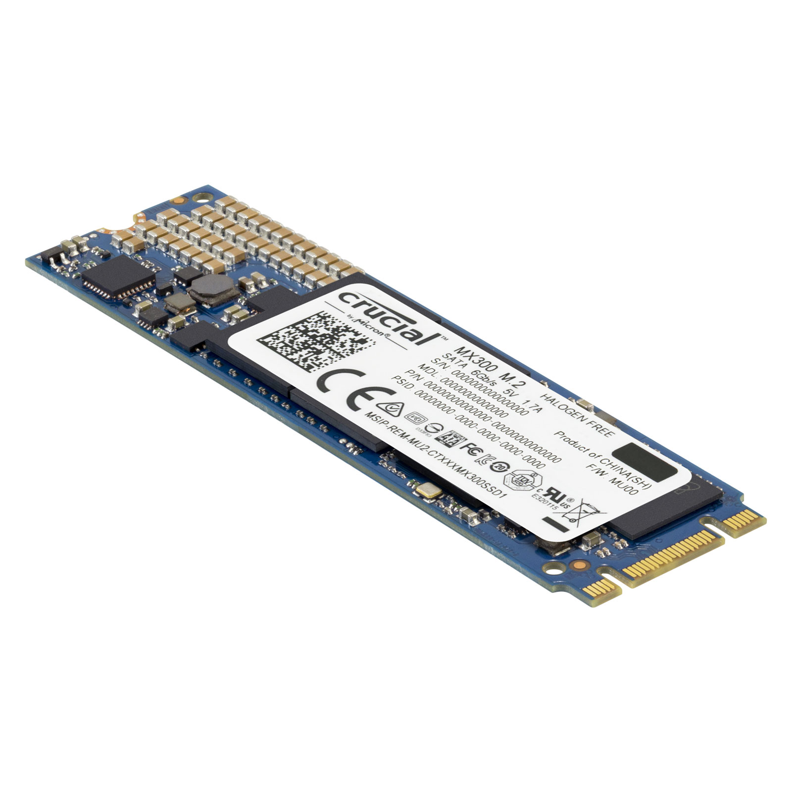 Disque SSD Crucial MX300 1 To M.2 Type 2280 SSD 1 To M.2 6Gb/s