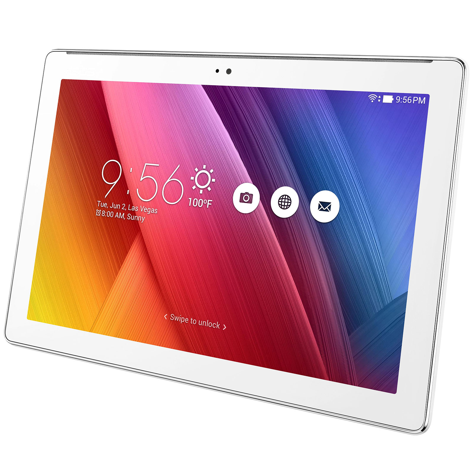 asus zenpad 10 z300m 6b059a blanc tablette tactile asus sur. Black Bedroom Furniture Sets. Home Design Ideas