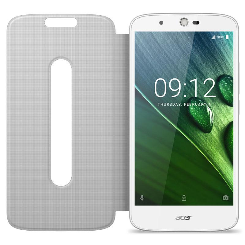 Etui téléphone Acer Flip Cover Blanc Liquid Zest Plus Etui à rabat blanc pour Acer Liquid Zest Plus
