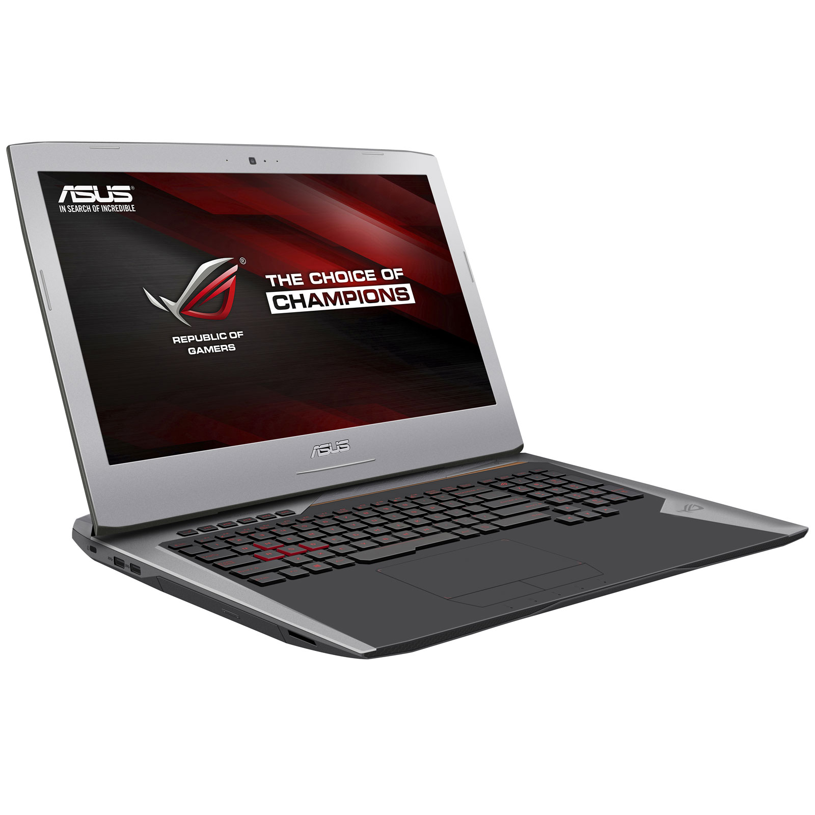 "PC portable ASUS ROG G752VS(KBL)-BA343 Intel Core i7-7700HQ 8 Go SSD 256 Go + HDD 1 To 17.3"" LED Full HD 120 Hz G-SYNC NVIDIA GeForce GTX 1070 8 Go Graveur DVD Wi-Fi AC/Bluetooth Webcam Endless OS (garantie constructeur 2 ans)"
