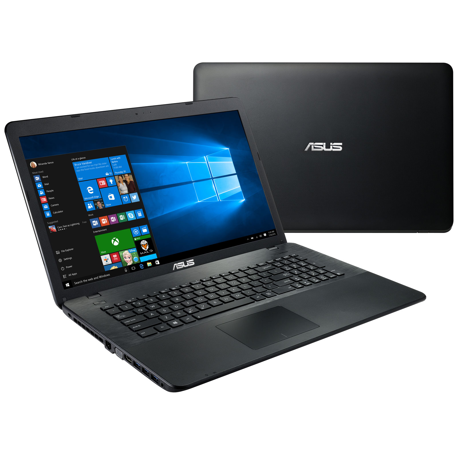 asus x751lav t4615t noir pc portable asus sur. Black Bedroom Furniture Sets. Home Design Ideas