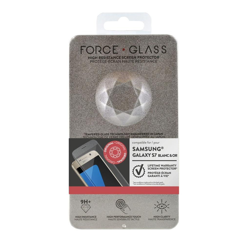 force glass verre tremp galaxy s7 blanc or film. Black Bedroom Furniture Sets. Home Design Ideas